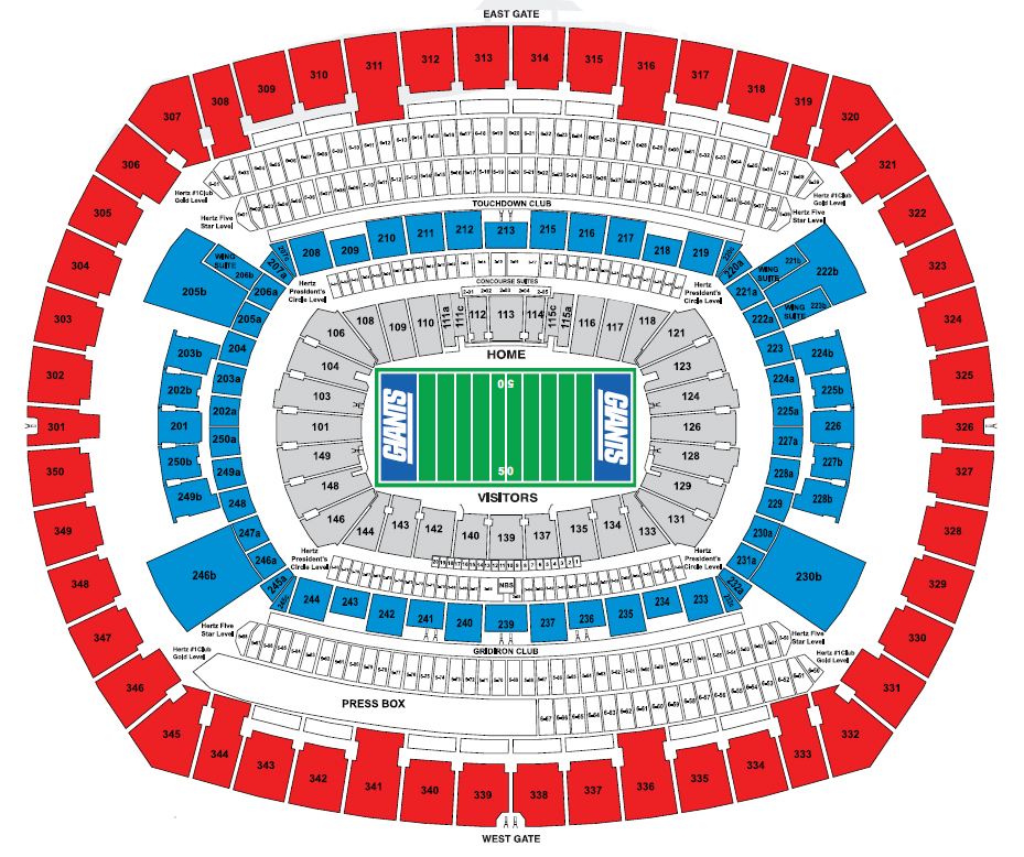 NFL Stadium Seating Charts, Stadiums of Pro Football