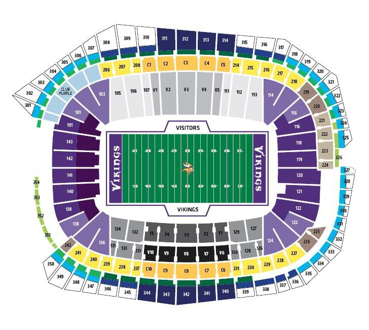 NFL Stadium Seating Charts, Stadiums of Pro Football