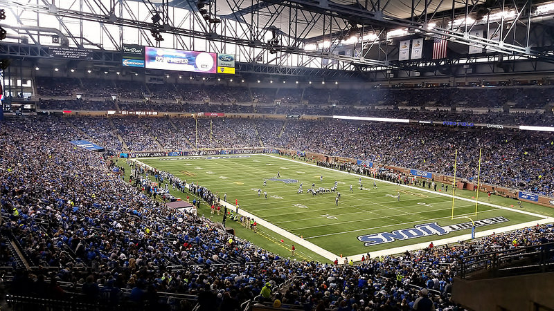 Ford Field, Detroit Lions football stadium - Stadiums of Pro Football