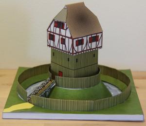 Modell einer Turmhügelburg