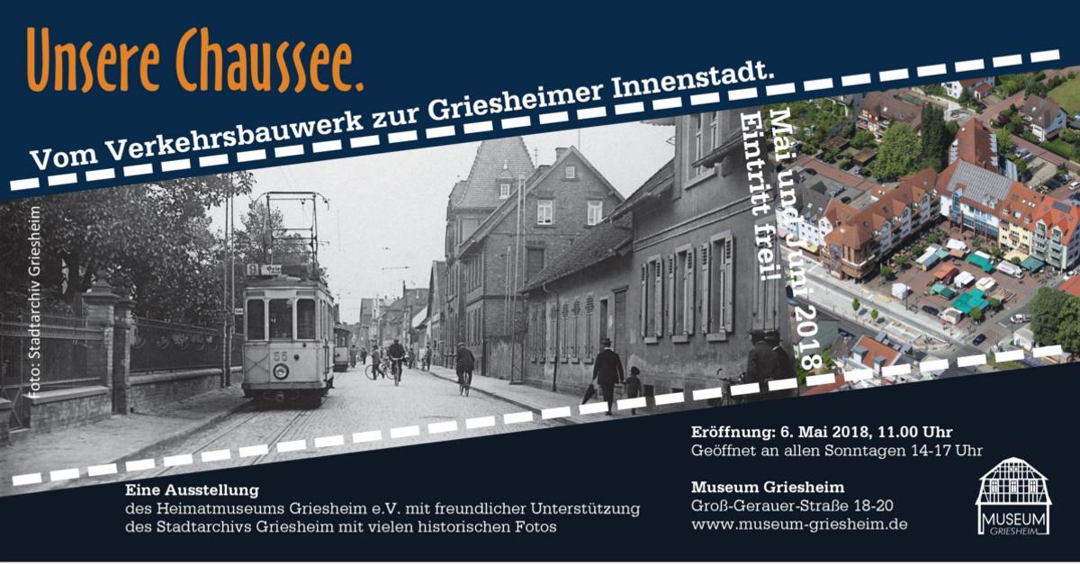 """Ausstellung """"Unsere Chaussee"""""""