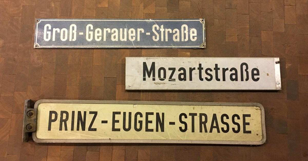 Straßenschildertypen