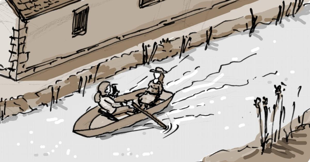 Goethes Bootsfahrt am Gehaborner Hof