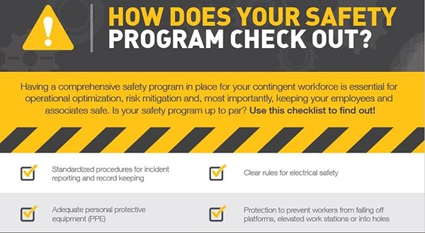 How Does Your Safety Program Check Out? Checklist Staff
