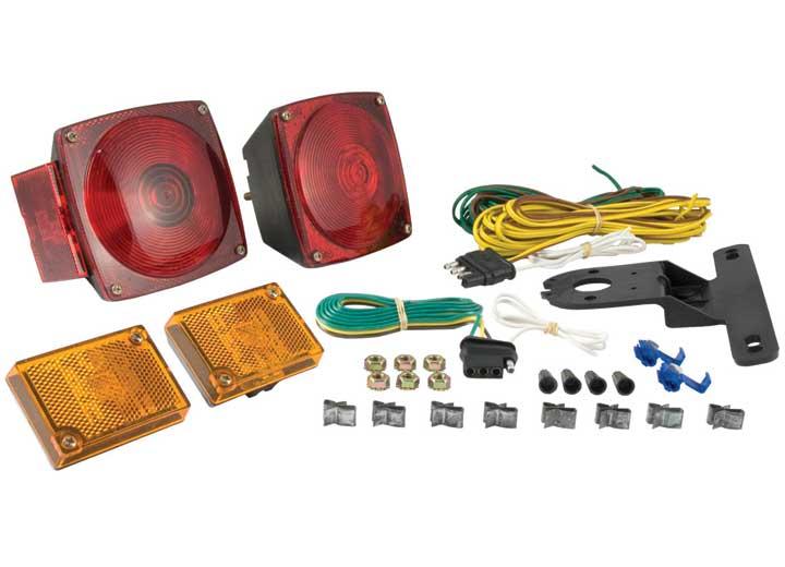 CURT Rear Trailer Lighting Kit (w/ 4-Way Flat-Connector Wiring