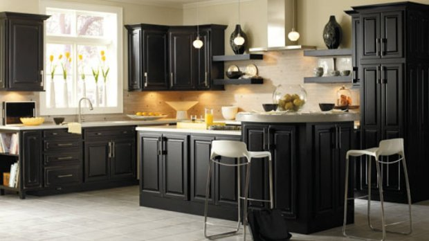 black kitchen cabinet knobs - home cabinets