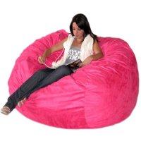 Hot Pink Bean Bag Chair for Girls - Home Furniture Design