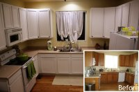 Painting Kitchen Cabinets White Before and After Pictures