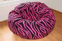Pink Zebra Bean Bag Chair - Home Furniture Design