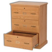 Wood 3 Drawer Lateral File Cabinet