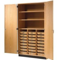 Tall Wood Storage Cabinets with Doors and Shelves - Home ...