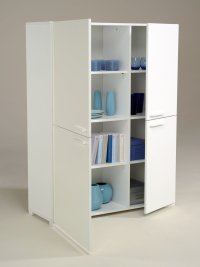 White Wood Storage Cabinets with Doors - Home Furniture Design