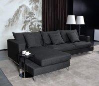 Black Fabric Sectional Sofa - Home Furniture Design