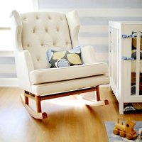 Padded Rocking Chairs for Nursery - Home Furniture Design