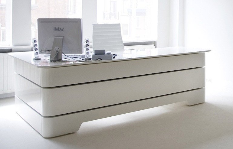 White Executive Desk