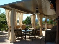 Aluminum Attached Solid Patio Cover - Home Furniture Design