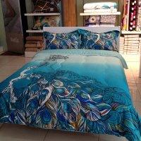 Peacock Blue Bedding Set - Home Furniture Design