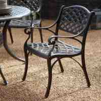 Black Wrought Iron Dining Chairs