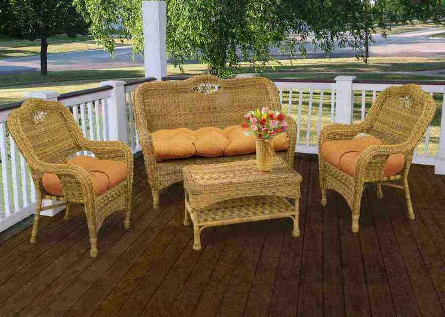 White Patio Chair Cushions With Rattan Furniture Wicker Patio Chair Cushions - Home Furniture Design