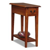 Oak End Tables With Drawers - Home Furniture Design