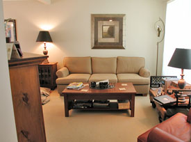 home staging boring living room