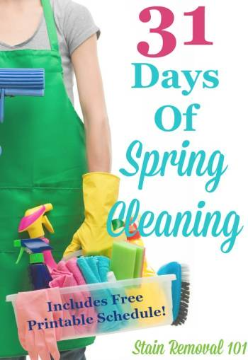 31 Days Of Spring Cleaning Get The Plan Here - pictures cleaning