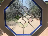 22 Inch Octagon Stained Glass Window - Glass Designs
