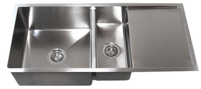Undermount Double Kitchen Sink With Drainboard Kitchen