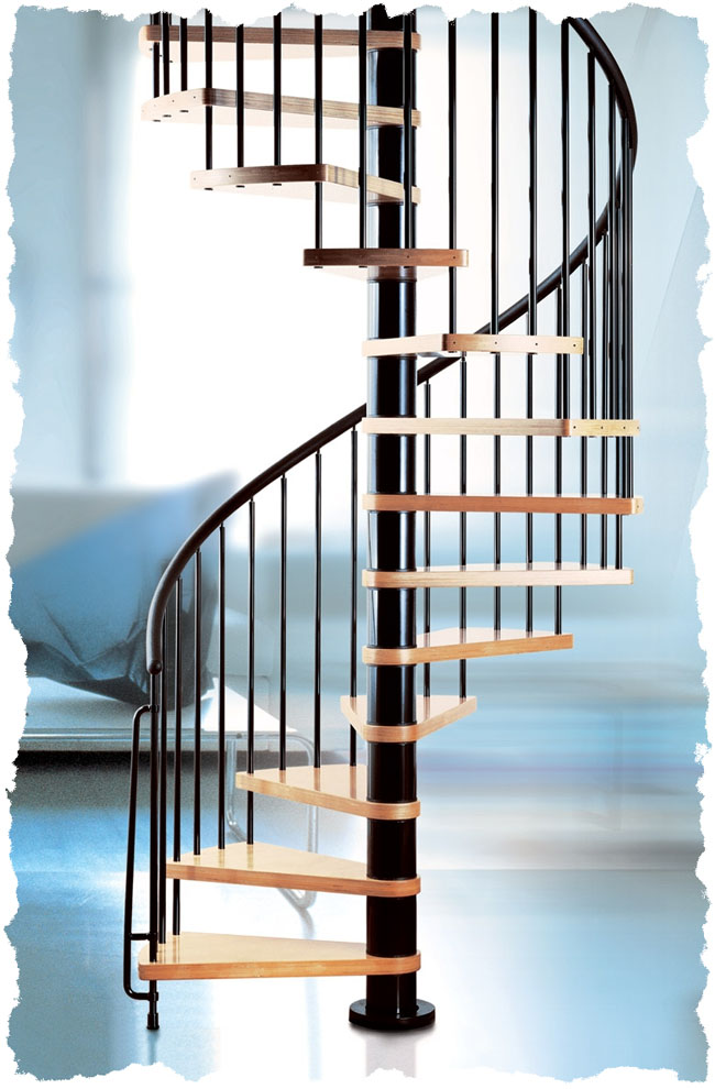 Metal Stair Kits Spiral Staircases | Arke Spiral stair Kit | Klan spiral staircases