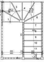 Typical winder staircase plans