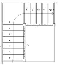 Wooden Staircases Stairplan winder staircase plans