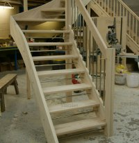 Ash Open riser Staircase | Feature Stairs in Ash Hardwood