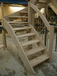 Ash Open riser Staircase | European Style Handrail ...