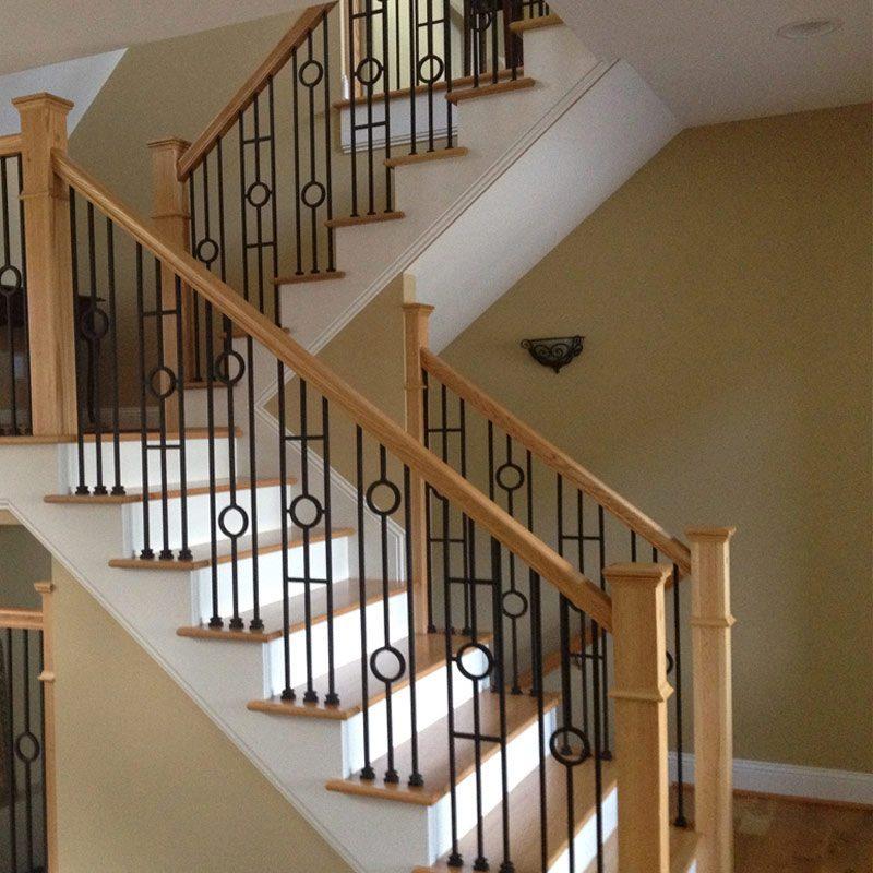 stair wood railing
