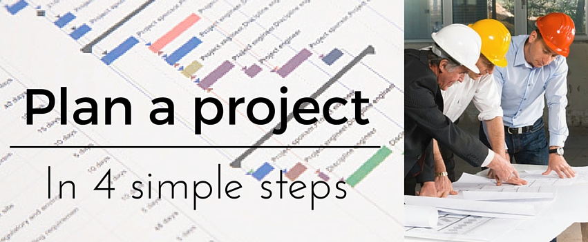 How to Plan a Project - plan any project in four simple steps - project planning
