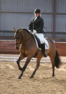 Turbo en ik tijdens een dressuur wedstrijd 2010