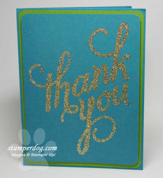 Thank You Card with Glitter Stampin\u0027 Up! Demonstrator Ann M