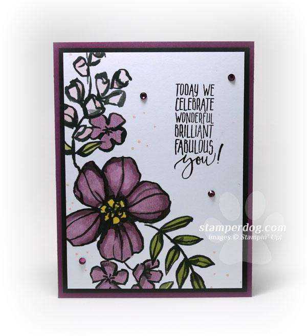 Fast, Easy and Elegant Birthday Card Stampin\u0027 Up! Demonstrator Ann