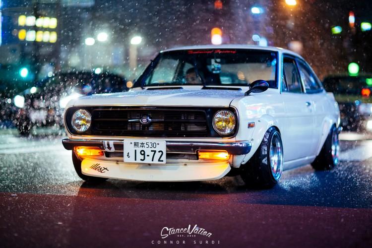 Custom Classic Car Wallpapers Shakotan Fever Teru S Datsun Sunny Coupe