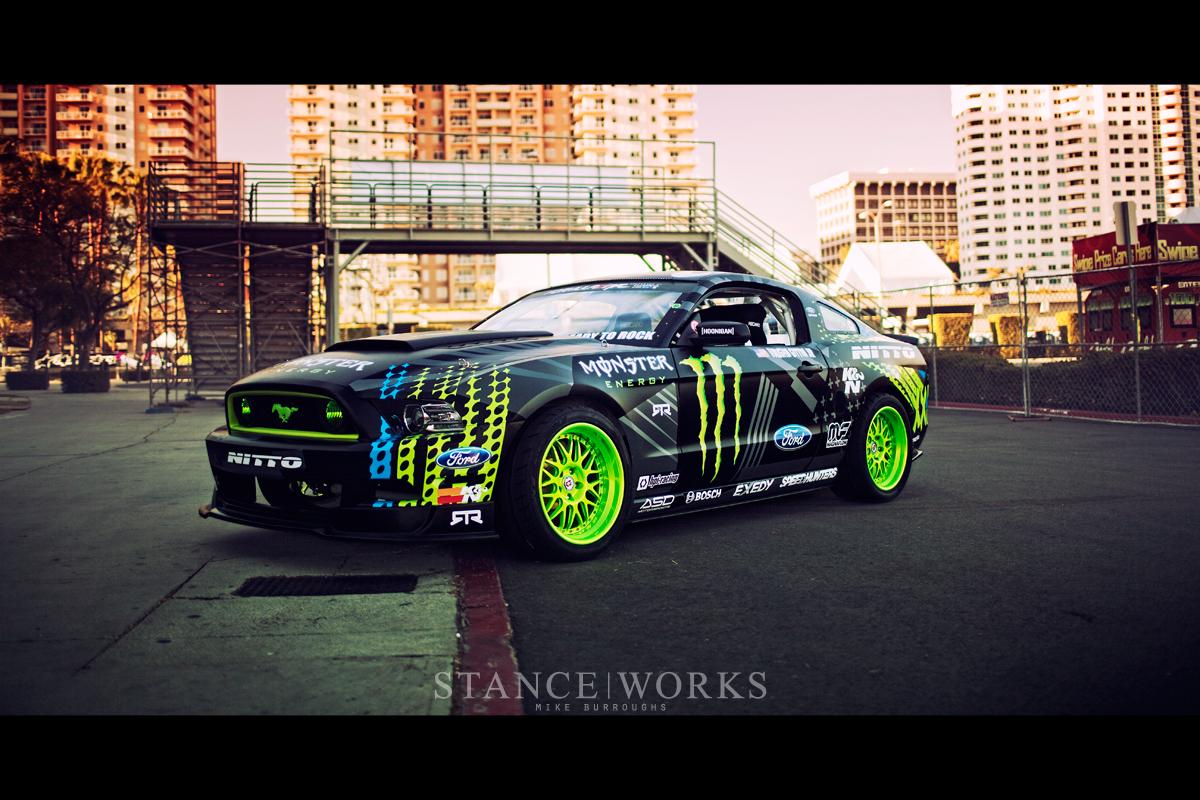 Formula 1 One Race Car Wallpaper Bright Vaughn Gittin Jr S Monster Energy Nitto Tire Mustang Rtr
