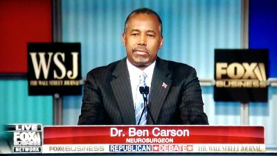 Dr. Ben Carson at the Fox Business presidential debate