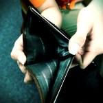 empty wallet held open