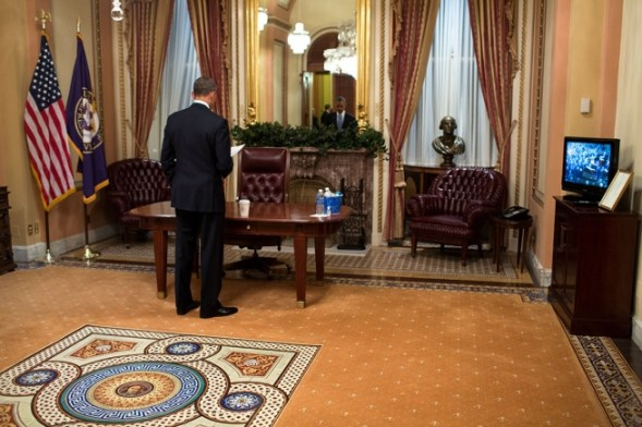 President Obama in the White House