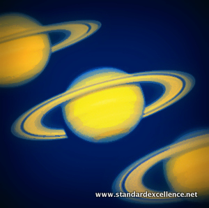 saturn at different phases of ring tilt