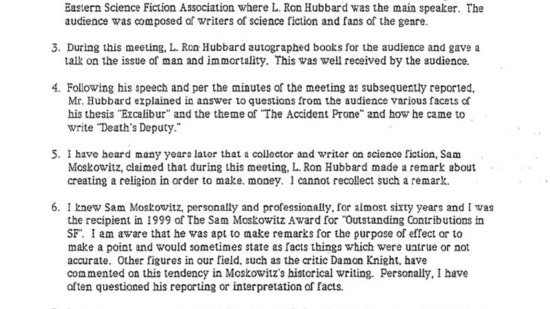 Affidavit of David A Kyle, August 2000 STAND - affidavit statement of facts