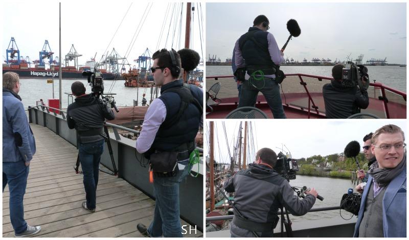 NDR team in actie tijdens interview - Standort Hamburg