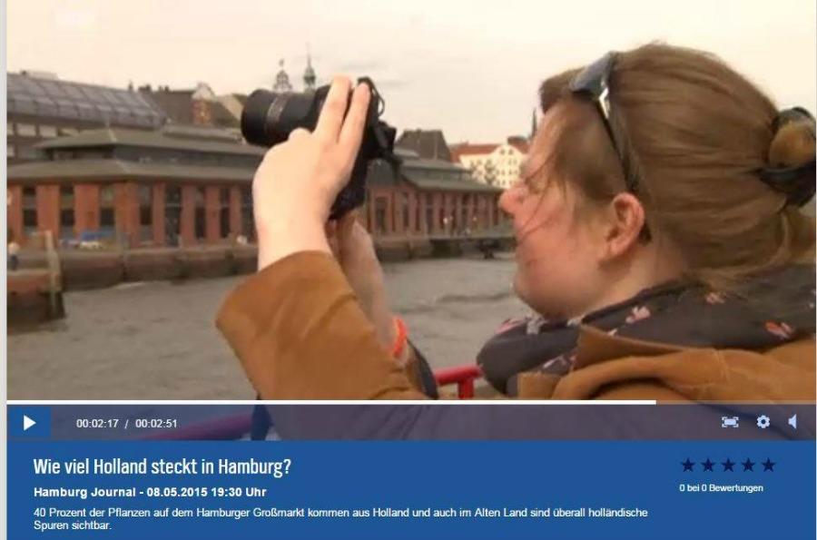 Fem tijdens NDR-interview - Standort Hamburg