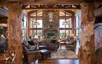 Standout Log Home Fireplaces . . . Designs That Dominate!
