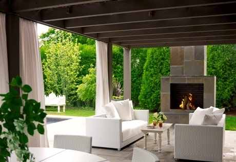 Patio Roof Designs For Outdoor Fireplacesan Exciting
