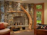Stone Fireplace Design Ideas . . . Take It To The Top!